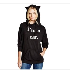 """Wildfox """"I'm a Cat"""" Hoodie with Ears"""
